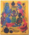 Tingatinga_painting_SAYUKI_collection_Aurnhammer_27x33cm_early_work_canvas_280Euro