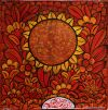 012_Tingatinga_painting_36x36cm_DAVID_MZUGUNO_red_ex