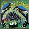 NASOMBE_birds_Tingatinga_painting_040_30x30cm